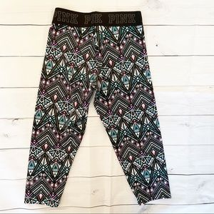 VS PINK Aztec Cropped Ultimate leggings -Size XS